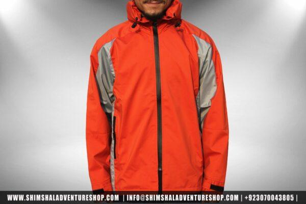 Water Proof Parka Jacket ORANGE - Shimshal Adventure Shop